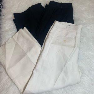 2 pair  100% linen Talbots heritage pants size 10